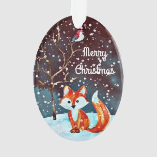 Winterfox-Malerei Ornament