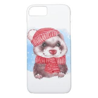 Winterfrettchen iPhone 8/7 Hülle