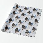 Winterland Rottweiler Geschenkpapier