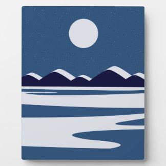 Winterland Tischplatte-Plakette Fotoplatte