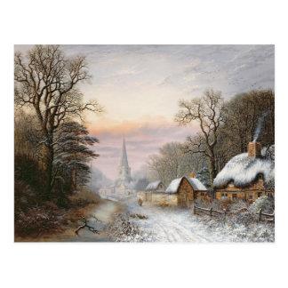 Winterlandschaft, 1869 postkarte