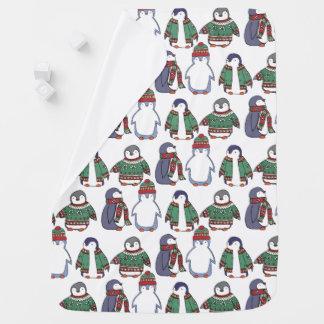 Winterliche Pinguin-Baby-Decke Puckdecke