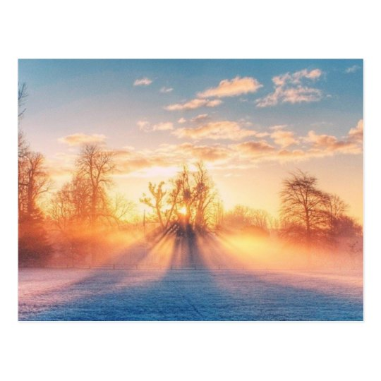 Winterliche Postkarte