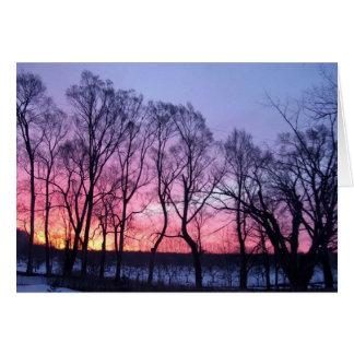 Winterlicher Sonnenaufgang Karte