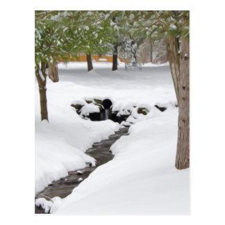 Winterlicher Wicklungsnebenfluß Postkarte