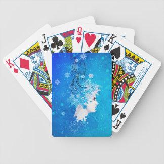 Wintermädchenillustration Bicycle Spielkarten