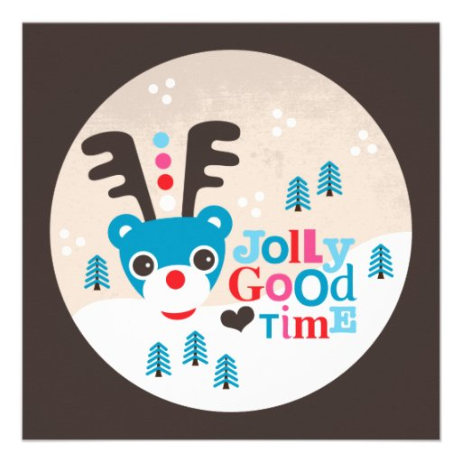 Wintermärchenlandren-Weihnachtspostkarte Personalisierte Einladung