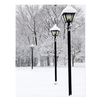 Winterpark Postkarte