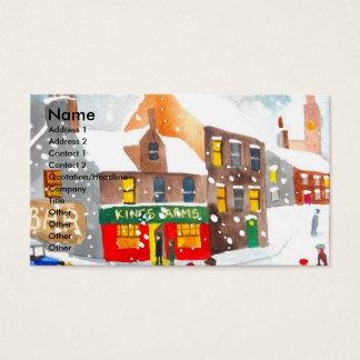 Winterschnee-Szenen-Wasserfarbe, die G Bruce malt Visitenkarte