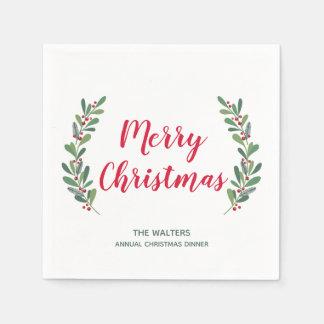 Wintersprigs-Weihnachtscocktail-Serviette Servietten