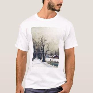 Winterszene, 19. Jahrhundert T-Shirt