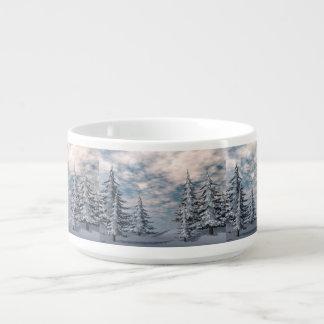 Wintertannenbaumlandschaft Kleine Suppentasse