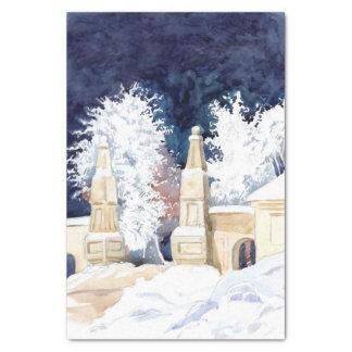 Wintertor nachts (Skizze) Seidenpapier