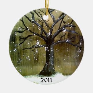 Wintertree Verzierung Rundes Keramik Ornament
