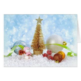 Winterurlaub-Weihnachtsneues Jahr-Gruß-Karte Karte