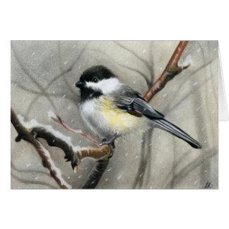 Wintervogel Chickadee KARTE