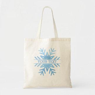 Winterwatercolor-Feiertags-Schneeflocke Tragetasche
