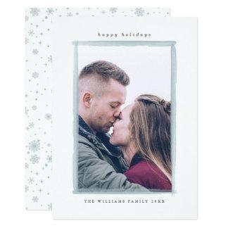 Winterwatercolor-Schlagmann-WeihnachtsFoto-Karten 12,7 X 17,8 Cm Einladungskarte