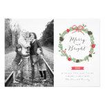 WinterWreath durch Feiertags-Foto-Karten Einladungskarten