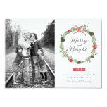 WinterWreath durch Origami druckt Foto-Karten Ankündigungskarten