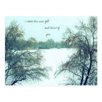 Winterzeitgedächtnisse Postkarte