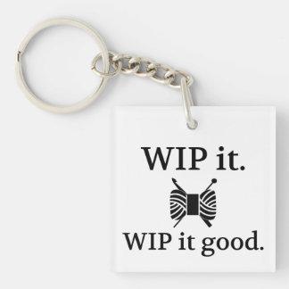 WIP es gut • Strick-Häkelarbeit-Handwerk Schlüsselanhänger