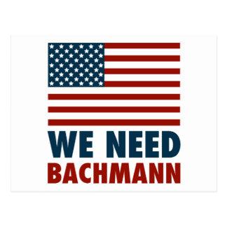 Wir benötigen Michele Bachmann Postkarte