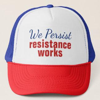 Wir bestehen die patriotischen Widerstand-Arbeiten Truckerkappe