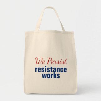 Wir bestehen Widerstand-Arbeits-rotes Blau fort Tragetasche