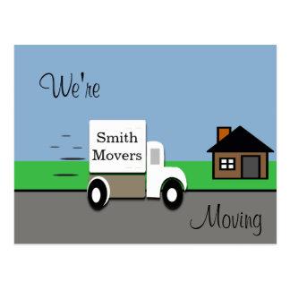 Wir bewegen bewegliche LKW-Szene Postkarte