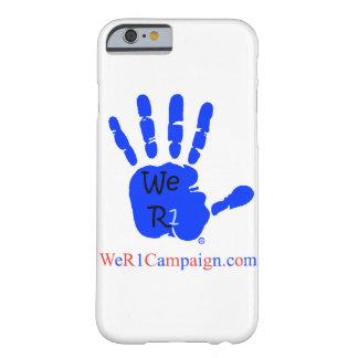 Wir blauer Telefon-Kasten der HandR1 Barely There iPhone 6 Hülle