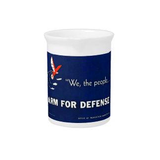 Wir der Leute-Arm für den Verteidigungs-Vintagen Krug