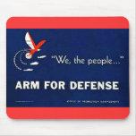 Wir der Leute-Arm für Verteidigung Mousepad