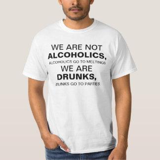 Wir der Männer sind nicht Alkoholiker, Alkoholiker Shirts