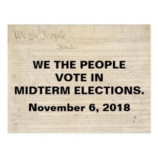 Wir die Leute-Abstimmung in den Halbzeit-Wahlen Postkarte