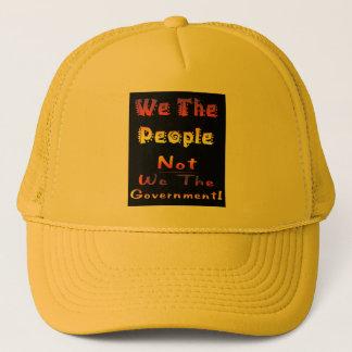 Wir die Leute nicht wir die Regierung Truckerkappe