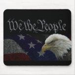 Wir die Leute patriotisch Mauspads
