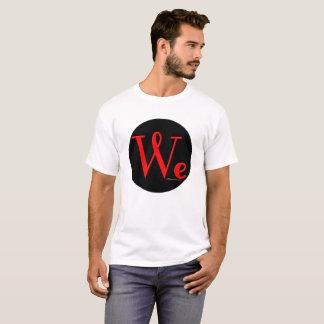 Wir die Leute runden den T - Shirt der Logo-Männer