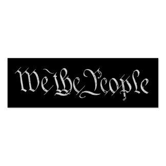 Wir die Leute-Weiß-Visitenkarte