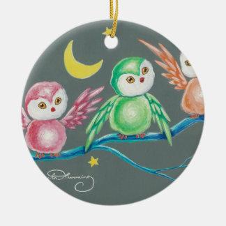 Wir drei Eulen Ornament