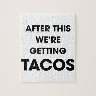 Wir erhalten Tacos Puzzle