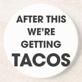 Wir erhalten Tacos Sandstein Untersetzer
