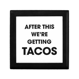 Wir erhalten Tacos Schmuckschachtel