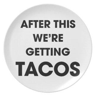 Wir erhalten Tacos Teller