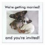 Wir erhalten verheiratet! und Sie werden Personalisierte Ankündigungskarten