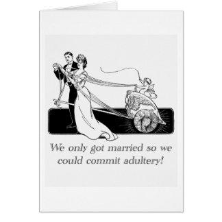 Wir erhielten nur… verheiratet grußkarte