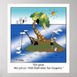 Wir erhielten unsere 1040 geschätzte Steuer-Kupons Posterdrucke