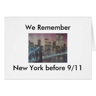 Wir erinnern uns an New York vor 9/11 Karte
