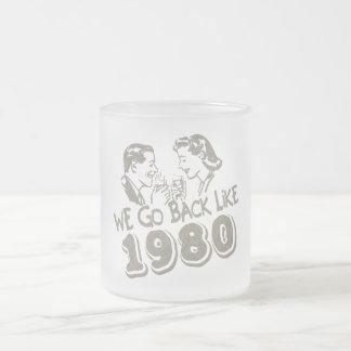 Wir gehen zurück wie mattiertes Glas 1980-Small Tassen