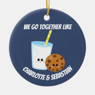 Wir gehen zusammen wie die Milch und Plätzchen, Keramik Ornament
